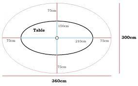lazy susan patio table size dimensions