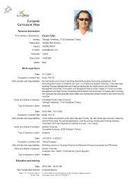 Fresh German Cv Template For Muster Sample Resume 27 German