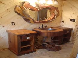 Awesome Rustic Bathroom Vanities Sink Cabinet And Bathroom Light