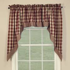 Red Swag Kitchen Curtains Country Swag Curtains York Wine Red Swags 72 X 36