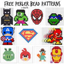 Cool Designs With Perler Beads Free Perler Bead Patterns For Kids U Create