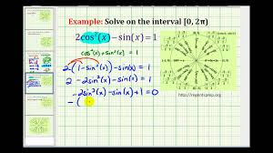 example 4 solving a trigonometric equation using a trig substitution and factoring
