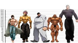 Character Height Chart Baki Characters Height Comparison