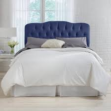 velvet navy full tufted headboardfvlvnv  the home depot