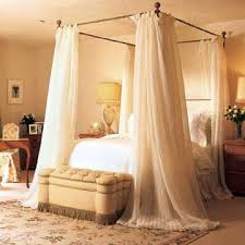 Sheer Curtains For Canopy Bed & DIY Canopy Bed Using Command Strips ...