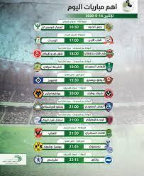 مواعيد أهم مباريات اليوم الإثنين 14-9-2020 والقنوات الناقلة - التيار الاخضر