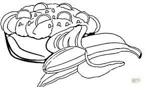 Small Picture Banana Split coloring page Free Printable Coloring Pages