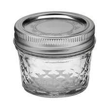 Ball Mason Jar | Quilted Design | Wholesale & Bulk Prices | Freund & Ball 4 oz Quilted Crystal Mason Jar (Silver Vacuum Seal Lid) - CJ650 Adamdwight.com