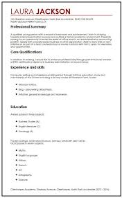 Create Professional Cv Cv Example With No Job Experience Myperfectcv