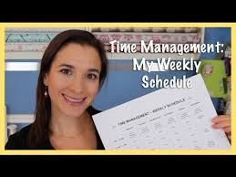 Time Management My Weekly Schedule 2014