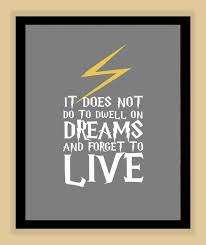 Hp Quotes Harry Potter DWELL on DREAMS Quote modern print poster Harry 81