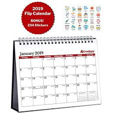 standup desk calendars easel desk calendars amazon com