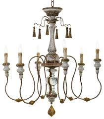 french country chandelier company collection 6 light catania vintage