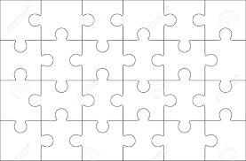 Printable Jigsaw Puzzle Maker Jigsaw Puzzle Template Pieces Vector Blank Templates Piece