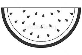 スイカ モノクロ イラスト素材 1985491 フォトライブラリー