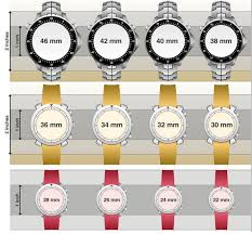 Mens Watch Case Size Chart Watch Size And Fit Guide How Your Watch Should Fit The Loupe