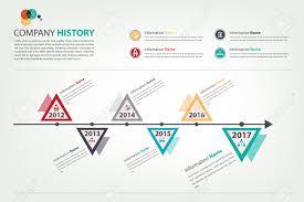 Timeline Milestone Company History Infographic In Vector