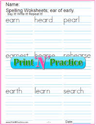 Phonics is a method of teaching kids to learn to read by helping them to match the sounds of letters, and groups of letters, to distinguish words. Ear Trigraph Worksheet Phonics Lesson