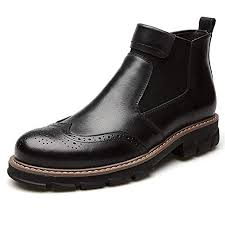 <b>Chelsea</b> Boots <b>Men's</b> Casual Martin Boots <b>Genuine Leather Men</b> ...