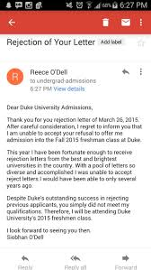 Rejection Letter Sample Impressive Hilarious Responses To College Rejection Letters