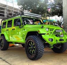 lime green 4 door jeep jk for the family and of course much much more