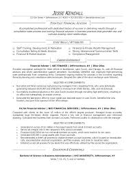 Financial Resume Template Adorable Resume Templates For Finance Professionals Financial Advisor Resume