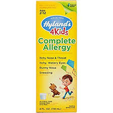Amazon.com: Hyland's 4 Kids Complete Allergy Syrup, Safe and Natural ...