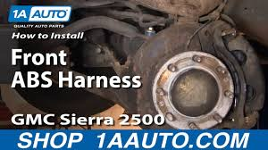 how to replace abs speed sensor harness 99 04 gmc sierra 2500 how to replace abs speed sensor harness 99 04 gmc sierra 2500