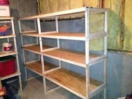 easy to build shelves garage storage shelves easy to build wood storage shelves