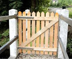 wood picket fence gate. Picture Of Nearly Done. Wood Picket Fence Gate