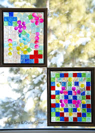 holly s arts and crafts corner craft project diy faux stained glass frames