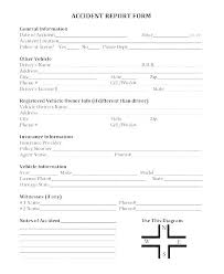 General Incident Report Form Template Together With Road