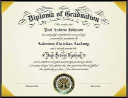 Vintage Style High School Diploma For Homeschools