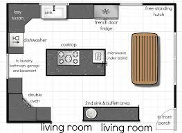 Elegant Layout Of Kitchen And Its Brilliant Kitchen Floor Plans Design