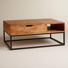 wood silas storage coffee table world market mango 55804 x