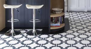 black and white vinyl kitchen floor
