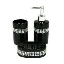 Black Bathroom Accessories Set Black And Pink Bathroom Sets Bedroomk And White Literarywondrous