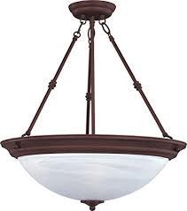 Inverted bowl pendant lighting Lighting Design Maxim 5845mroi Essentials 3light Invert Bowl Pendant Oil Rubbed Bronze Finish Marble Amazoncom Maxim 5845mroi Essentials 3light Invert Bowl Pendant Oil Rubbed