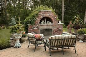 outdoor corner fireplace red brick kits