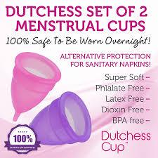 Menstrual Cup Amazoncom Dutchess Menstrual Cups Set Of 2 With Free Bag No 1
