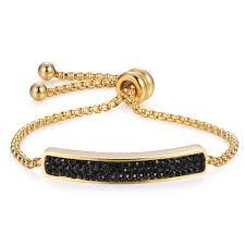 manufacturer of steel key chain snless steel bolo bracelet with cz color bracelet in jewelry 2019 minggui jewelry