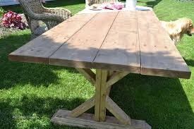 diy outdoor table. Outdoor Harvest Table, Diy, Furniture, Woodworking Projects Diy Table