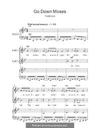 exultet sheet music go down moses by folklore sheet music on musicaneo
