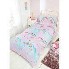 rainbow bedding sets details about kids girls unicorn and single duvet cover pillowcase set tie dye
