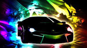 Rainbow Fire Lamborghini Wallpaper
