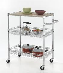 extraordinary overwhelming kitchen cart with wire baskets chrome 3 tier wire rolling kitchen cart utility food