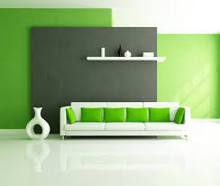 Living Room Wall Inspiring Lime Green Living Room Wall Painted Added White Couch