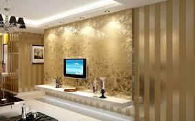 gold glitter wallpaper living room