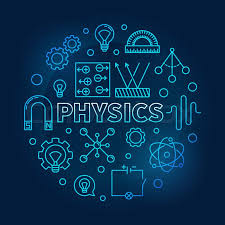 Science Physics Physics Vector Round Blue Science And Stock Vector