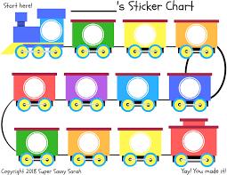 Printable Sticker Reward Chart Super Savvy Sarah Posts Sticker